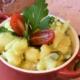 Eine Schüssel Kartoffelsalat