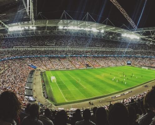 Volles Fußballstadion