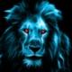 Blauer Löwenkopf